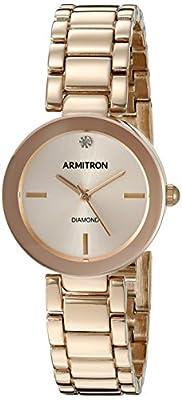 Armitron Women's 75/5374RSRG Diamond-Accented Rose Gold-Tone Bracelet Watch