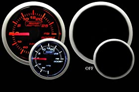 "Boost Gauge- Mechanical Amber/White Performance Series 52mm (2 1/16"")"