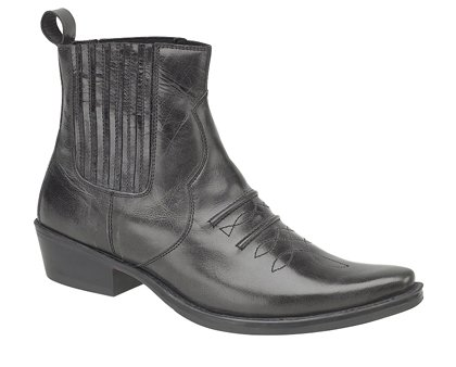 Black Leather Cowboy Boots By Gringos UK Size 12