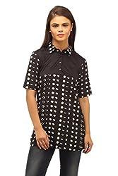 Ladybug Women Polka Dot Colour Block Tunic