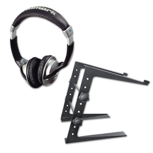 Professional Dj Laptop Stand And Headphone Pack