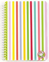 Littlemissmatched Spiral ruled notebook with zany multi stripes