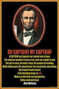oh captain my captain thesis Read this english essay and over 88,000 other research documents o captain my captain  o captain my captain is a poem written by walt whitman it is.