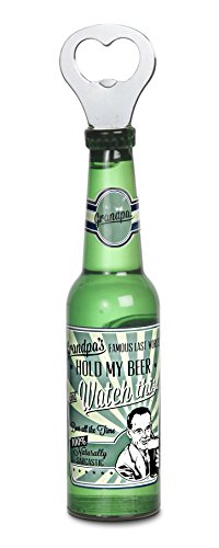 Pavilion Gift Company 22096 Grandpa Magnetic Bottle Opener, 8-1/4-Inch, Beer All The Time front-273100
