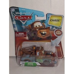 DISNEY PIXAR MOVIE CARS CHASE MATER #130 WITH MOVING EYES AND COMES WITH OIL CAN - 1