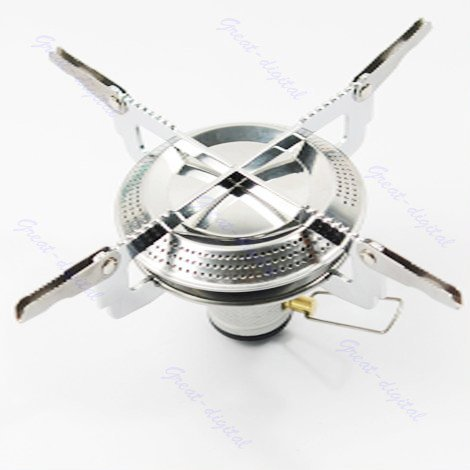 Lightweight Large Burner Classic Camping and Backpacking Stove. For iso-Butane/Propane Canisters (Compact Camp Stove compare prices)