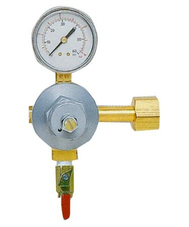 Commercial Grade Single Gauge Co2 Regulator (Co2 Regulator Shut Off Valve compare prices)