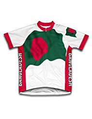 Bangladesh Flag Short Sleeve Cycling Jersey for Women