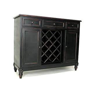 sideboard w wine rack china cabinets. Black Bedroom Furniture Sets. Home Design Ideas