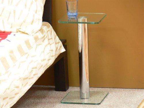 Beistelltisch-quadratisch-Glas-eckig-Stelltisch-Nachttisch