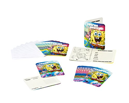 American Greetings 645416352659 SpongeBob SquarePants Invite and Thank You Combo Pack, Party Supplies Novelty (8-Count) - 1