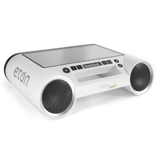 Eton Rukus Bluetooth Solar Wireless Speaker (White)