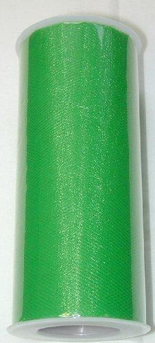 """6"""" X 25 Yard Roll Of Emerald Green Tulle Fabric"""