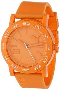 PUMA Women's PU103202003 Move Silicone Analog Watch, Orange from PUMA
