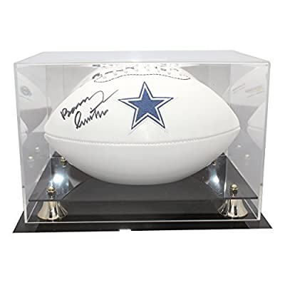 Barry Switzer Autographed Dallas Cowboys White Panel Football - JSA Certified Authentic - Display Case and Name Plate Included