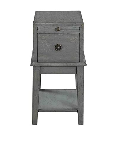 Coast to Coast Joplin Texture 1-Drawer Chairside Chest, Grey/Green