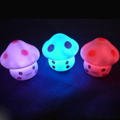 7 Color Romantic Mushroom Christmas LED Night Light Lamp Battery Party Decor (style1, 1)