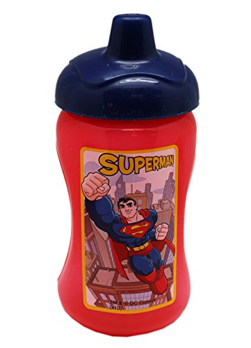 DC Comics Superman 10oz Red Colored Sippy Cup - 1