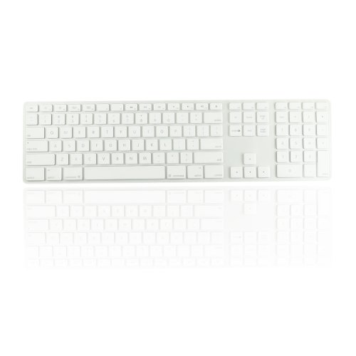 Topcase Ultra Thin Silicone Soft Keyboard Cover Skin With A Numeric Keypad For Apple Imac With Topcase Mouse Pad (Clear)