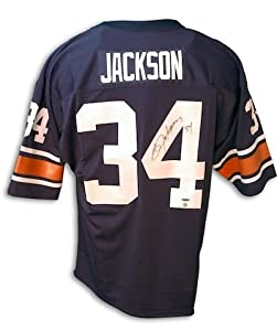 Bo Jackson Auburn Autographed Hand Signed Blue Jersey