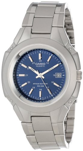 Casio Men's MTP3050D-2AV Classic 10-Year Battery Stainless Steel Dress Watch