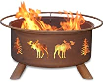 Big Sale Patina Products F108,  30 Inch Moose & Trees Fire Pit