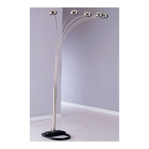 deals 5 lite floor lamp with balanced weighted base in. Black Bedroom Furniture Sets. Home Design Ideas