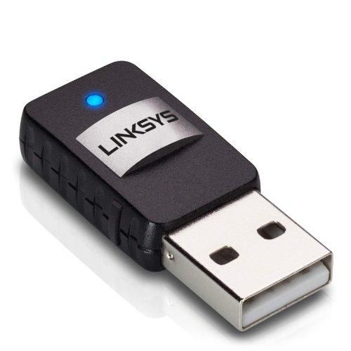 Linksys Wireless Mini USB Adapter AC 580 Dual Band (AE6000) (Wireless Ac Dual Band Usb Adapter compare prices)