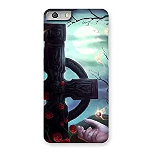 Crossed Circle Back Case Cover for Micromax Canvas Knight 2