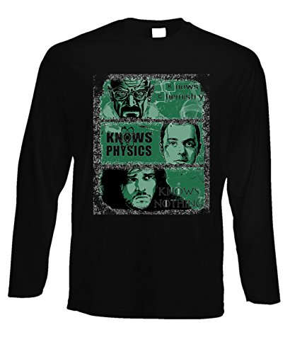 Tshirt a maniche lunghe games of thrones - breaking bad - the big bang theory - in cotone by Fashwork