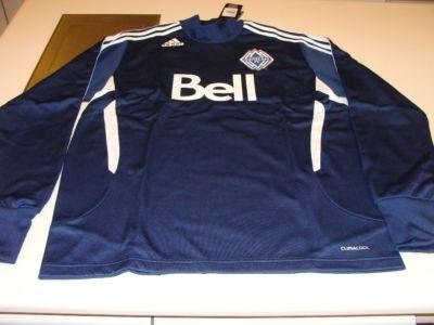 MLS Soccer Vancouver Whitecaps 2011 Pre Game Training Pullover Top L Football - Men's NHL Other Sweatshirts
