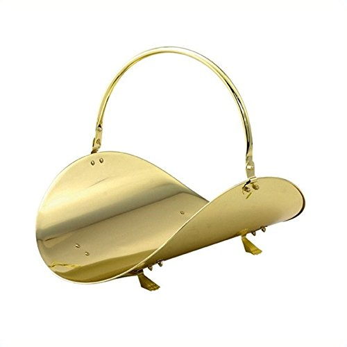 Uniflame-19-Inch-Polished-Brass-Woodbasket