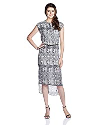 Chemistry Women's A-Line Dress (C16-641WDLDR_Ombre Feather_Large)