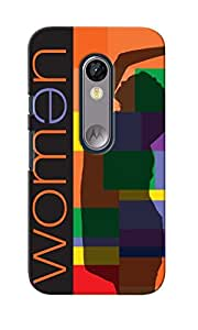 CimaCase Fashion Woman Designer 3D Printed Case Cover For Motorola Moto G Turbo Edition