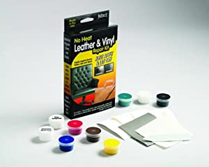 ReStor-It Leather/Vinyl Repair Kit, Includes 7 1.8-Ounce Colors with Mixing Guide