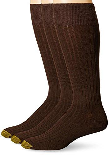 Gold Toe Men's Canterbury Over-the-Calf Dress Socks (Three-Pack)
