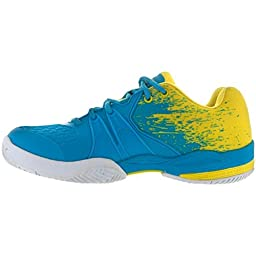 Prince Warrior Lite Women\'s Tennis Shoe (7, Blue/Yellow)