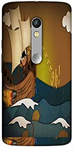 Snoogg Pirate Ship 2683 Solid Snap On - Back Cover All Around Protection For ...