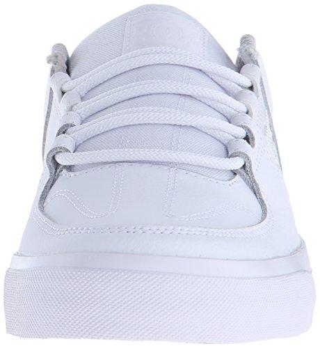 DC Men's Lynx Vulc Skate Shoe, White, 12 M US