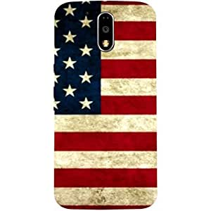 Casotec USA Flag Design Hard Back Case Cover for Motorola Moto G4 Plus
