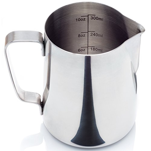 Milk Frothing Pitcher with Measurement Markings (12 or 20 oz.) - Use with Your Espresso Machine, Latte or Cappuccino Maker or Milk Frother - Includes Luxe Storage Bag (Almond Milk Pitcher compare prices)