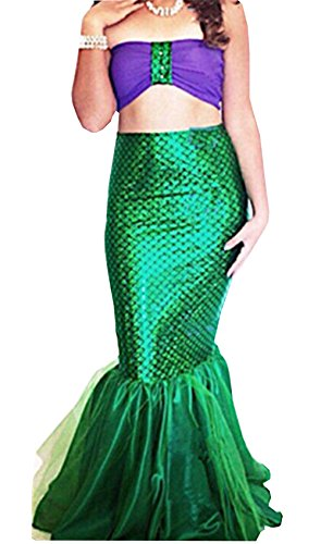 Women-Halloween-Costume-Cosplay-Mermaid-Fancy-Dress-Skirt