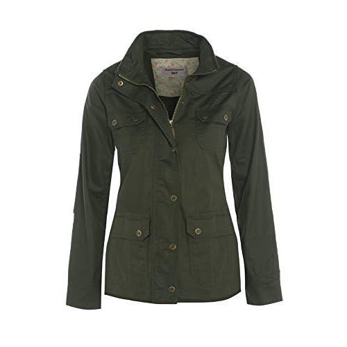 Women's Wax Jacket, Khaki, Navy, Size 8 to 16