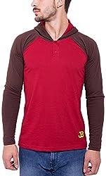 Jangoboy Men's Regular Fit Sweatshirt (F4U-52_L, Maroon And Brown, L)