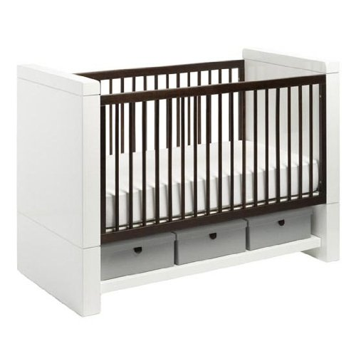 Maclaren Moderne Crib, Ebony Stained Ash (Discontinued by Manufacturer)