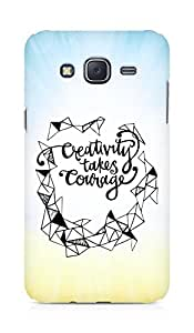 AMEZ creativity takes courage Back Cover For Samsung Galaxy J5