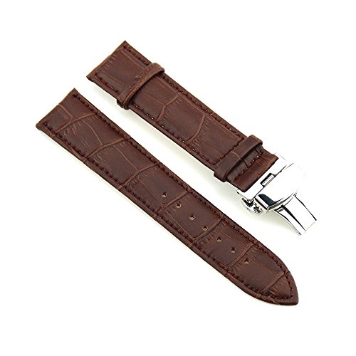 22mm-watch-strap-leather-wrist-watch-band-with-stainless-steel-deployment-clasp-alligator-grain-blac
