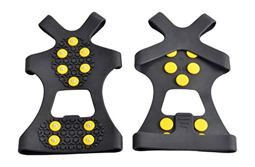 WAYPOR™ Ice Grips, Traction Cleats, Ice Cleat, Easy Slip On, Outdoor Durable, 10 Steel Studs, Stretchable, Prevent Slipping From Ice/Snow (X-Large) (Shoe Ice Grippers compare prices)