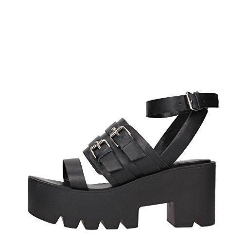 Cult CLE102202 Sandalo Donna Pelle Nero Nero 37