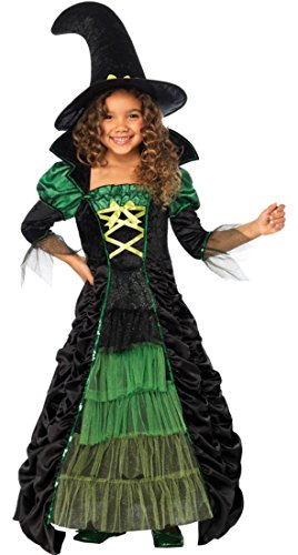 Girls Storybook Witch Kids Child Fancy Dress Party Halloween Costume